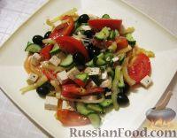 Фото к рецепту: Крестьянский салат по-гречески