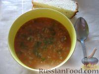 Фото к рецепту: Острый суп харчо с говядиной
