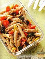 Фото к рецепту: Салат из пасты и жареных овощей
