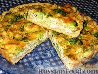 Фото к рецепту: Пирог  с брокколи и курицей