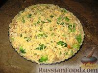 Фото приготовления рецепта: Пирог  с брокколи и курицей - шаг №8