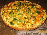 Фото приготовления рецепта: Пирог  с брокколи и курицей - шаг №9
