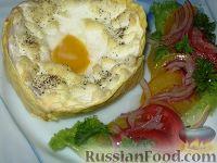 """Фото к рецепту: Яичница """"Орсини"""" в лаваше"""