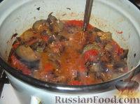 """Фото приготовления рецепта: Салат из баклажанов на зиму """"Тещин язык"""" - шаг №9"""