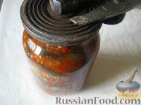 """Фото приготовления рецепта: Салат из баклажанов на зиму """"Тещин язык"""" - шаг №10"""