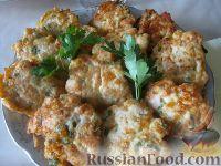 Фото к рецепту: Нежные куриные оладьи с сыром и зеленью