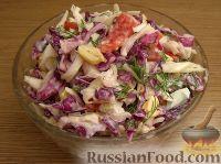 Фото к рецепту: Пестрый капустный салат