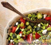 Фото к рецепту: Овощной салат с соевыми бобами