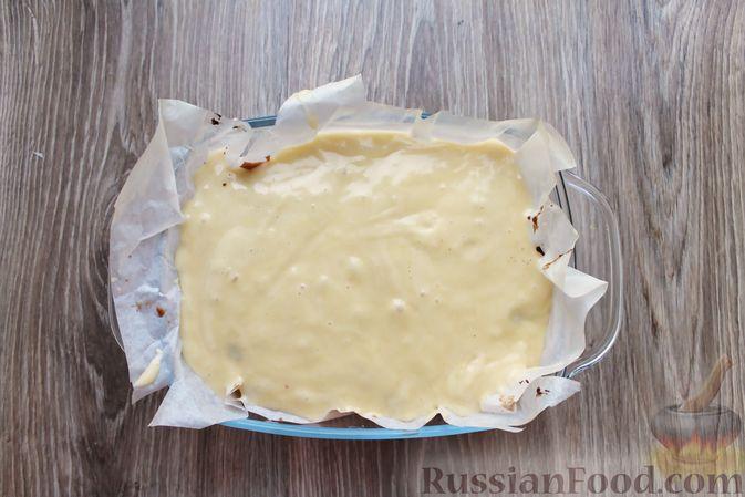Фото приготовления рецепта: Заливной пирог на молоке, с вареньем - шаг №10