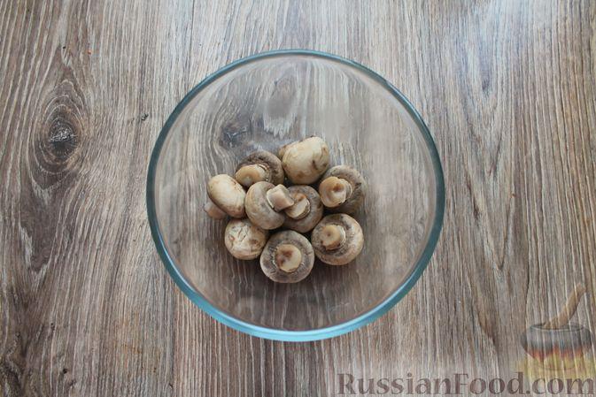 Фото приготовления рецепта: Шампиньоны в панировке, жаренные во фритюре - шаг №2