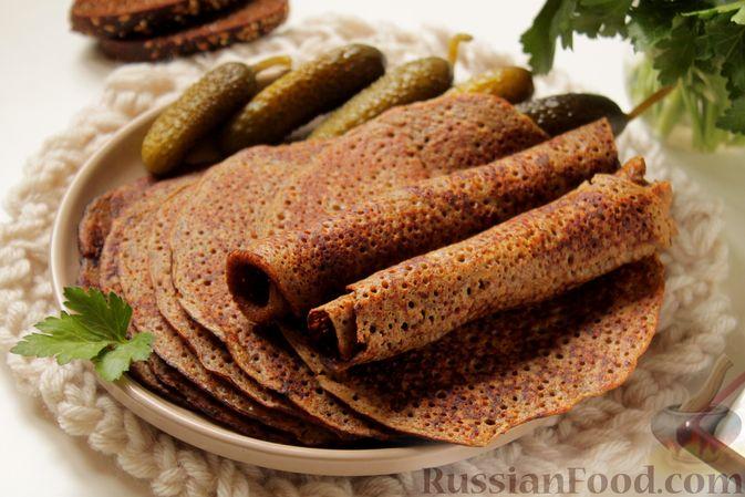 Фото к рецепту: Блинчики из ржаного хлеба