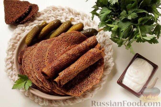 Фото приготовления рецепта: Блинчики из ржаного хлеба - шаг №9