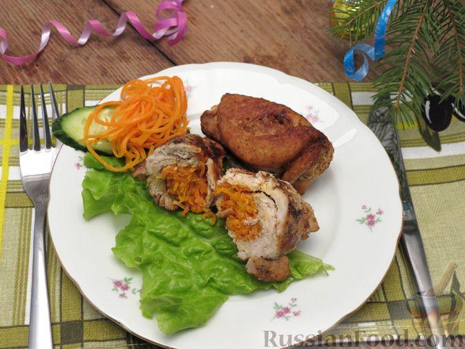 Фото приготовления рецепта: Рулеты из свинины с морковью по-корейски - шаг №6