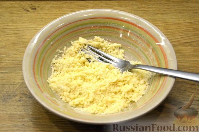 Фото приготовления рецепта: Сдобные булочки с яблоками и штрейзелем - шаг №14