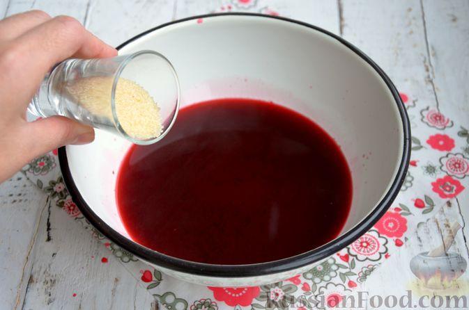 Фото приготовления рецепта: Суфле из каркаде с имбирём и мятой - шаг №5