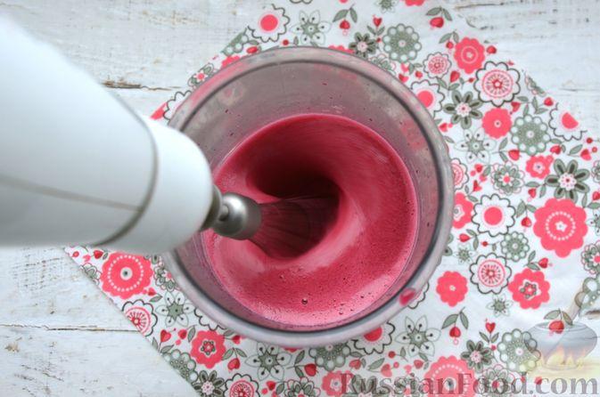 Фото приготовления рецепта: Суфле из каркаде с имбирём и мятой - шаг №7