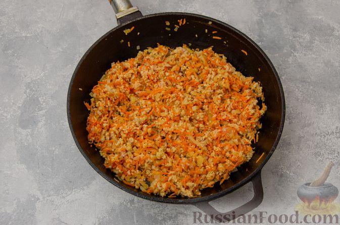 Фото приготовления рецепта: Кускус с мясным фаршем и овощами - шаг №5
