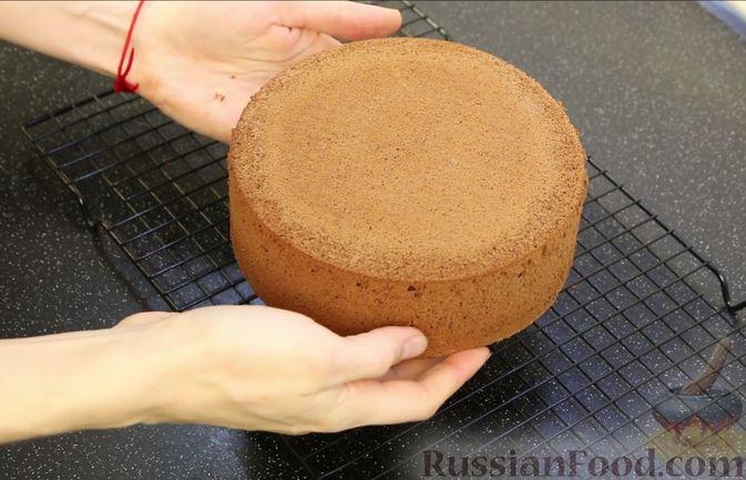 Фото приготовления рецепта: Шоколадный бисквит на какао - шаг №15