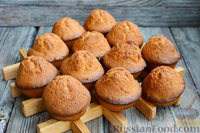 Фото приготовления рецепта: Кексы с мандаринами - шаг №12