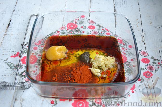 Фото приготовления рецепта: Пастрома из куриного филе в медово-пряной глазури - шаг №5