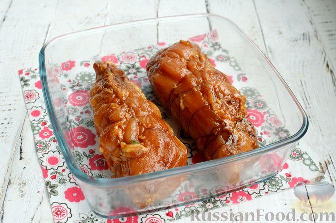 Фото приготовления рецепта: Пастрома из куриного филе в медово-пряной глазури - шаг №7