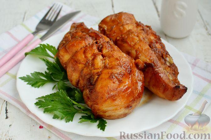 Фото приготовления рецепта: Пастрома из куриного филе в медово-пряной глазури - шаг №9