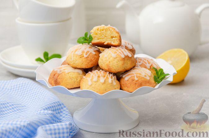 Фото приготовления рецепта: Творожное печенье с мёдом, цедрой и сахарной глазурью - шаг №12
