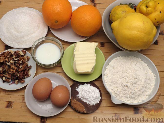 Фото приготовления рецепта: Ореховый пирог-перевёртыш с айвой - шаг №1