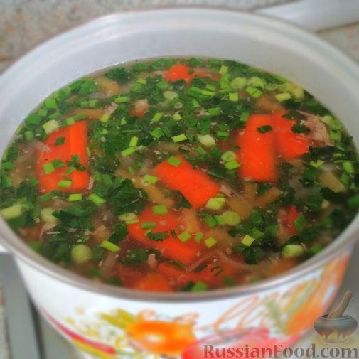 Фото приготовления рецепта: Суп из птицы с вермишелью - шаг №4