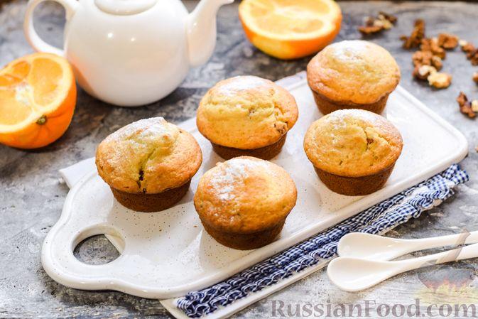 Фото приготовления рецепта: Маффины на йогурте, с орехами, изюмом, цедрой и розмарином - шаг №12