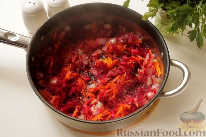 Фото приготовления рецепта: Борщ с курицей и тыквой - шаг №9