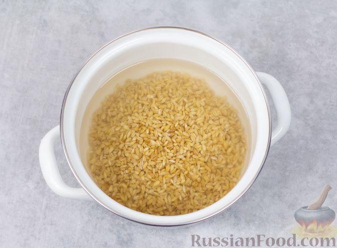 Фото приготовления рецепта: Перловая каша на воде (в духовке) - шаг №3