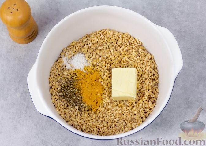 Фото приготовления рецепта: Перловая каша на воде (в духовке) - шаг №5