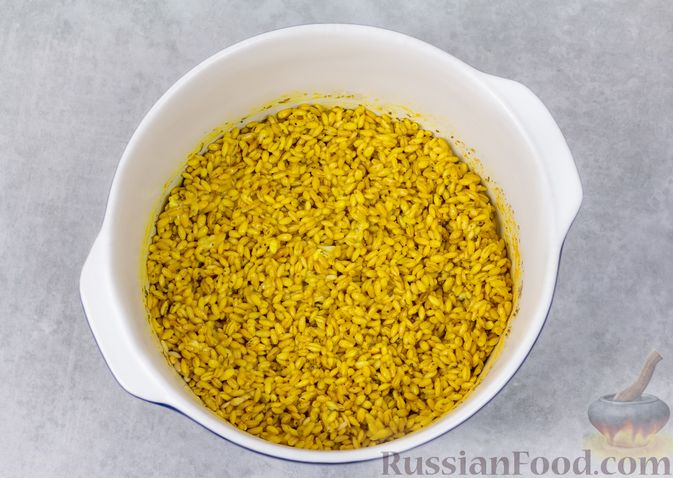 Фото приготовления рецепта: Перловая каша на воде (в духовке) - шаг №6