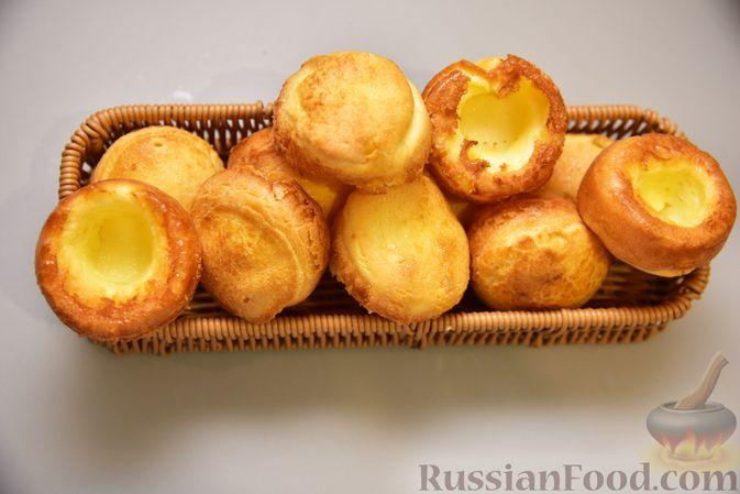 Фото приготовления рецепта: Полые кукурузно-сырные булочки на молоке - шаг №5