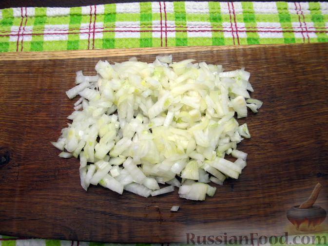 Фото приготовления рецепта: Макароны по-флотски с куриной печенью - шаг №5