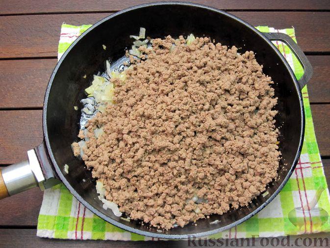 Фото приготовления рецепта: Макароны по-флотски с куриной печенью - шаг №7