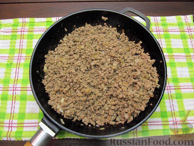 Фото приготовления рецепта: Макароны по-флотски с куриной печенью - шаг №8