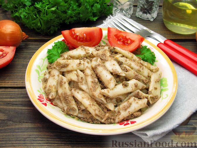 Фото приготовления рецепта: Макароны по-флотски с куриной печенью - шаг №13