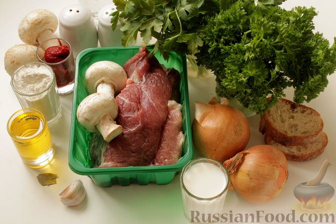 Фото приготовления рецепта: Мясные тефтели в томатно-грибном соусе - шаг №1