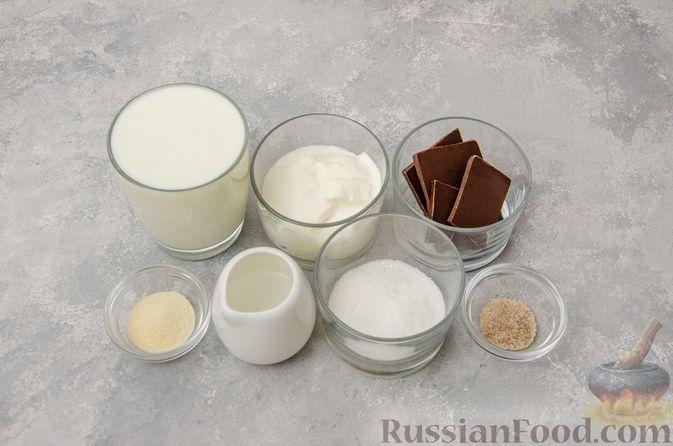 Фото приготовления рецепта: Сметанно-кефирное желе с шоколадом - шаг №1
