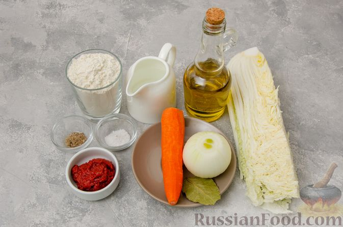 Фото приготовления рецепта: Постные вареники с пекинской капустой и морковью - шаг №1