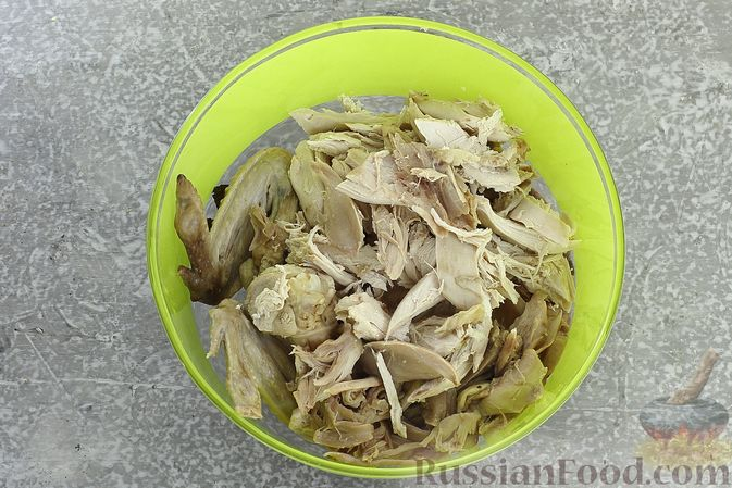 Фото приготовления рецепта: Куриный суп с кукурузной крупой и сливками - шаг №9
