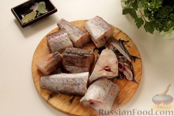 Фото приготовления рецепта: Рыбный суп с рисом - шаг №3