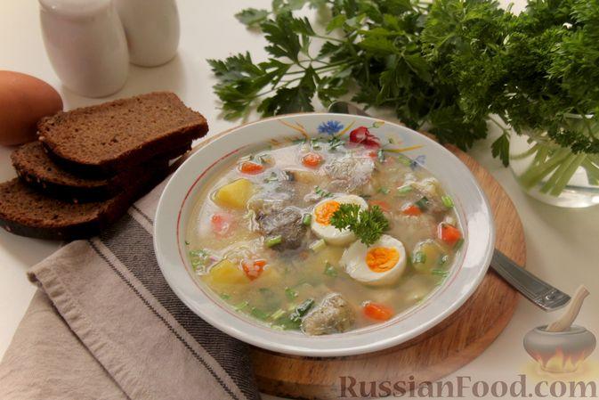 Фото приготовления рецепта: Рыбный суп с рисом - шаг №12