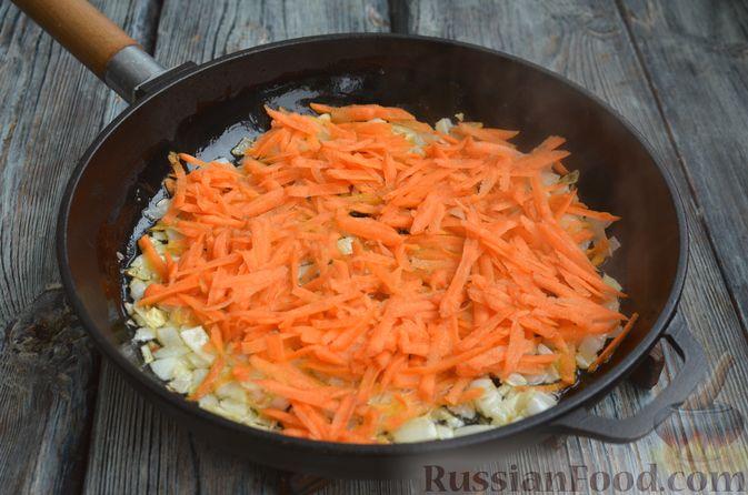 Фото приготовления рецепта: Томатный суп со свининой и рисом - шаг №10