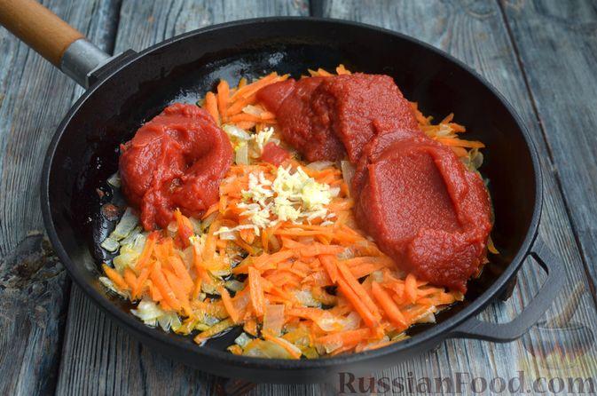 Фото приготовления рецепта: Томатный суп со свининой и рисом - шаг №11