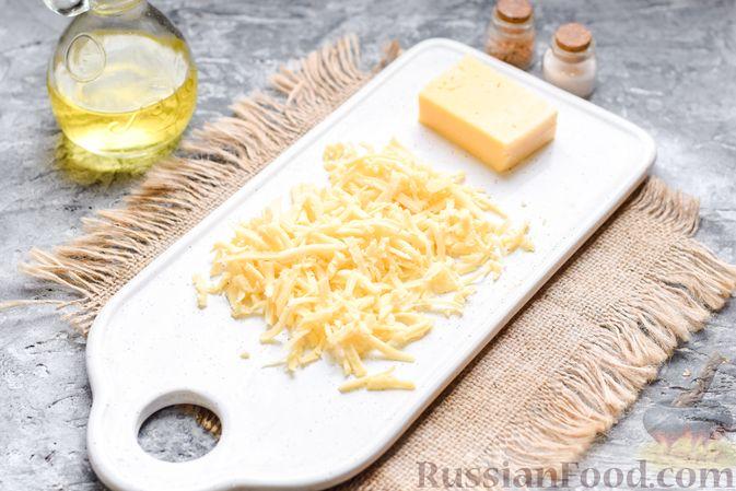 Фото приготовления рецепта: Запеканка из брокколи, цветной капусты и стручковой фасоли, со сметаной и сыром - шаг №6