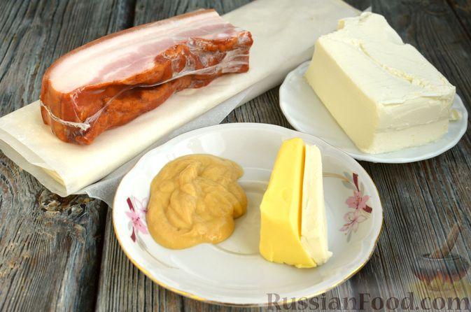 Фото приготовления рецепта: Рулетики из теста фило с фетой и беконом - шаг №1