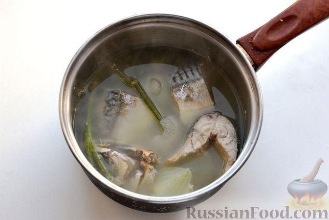 Фото приготовления рецепта: Томатный суп со скумбрией - шаг №5